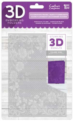 "Crafters Companion - 3D 5"" x 7"" Embossing Folders or A6 Stamps"